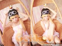 Bakemonogatari Nisemonogatari Oshino Shinobu lolita pink dress hat glasses Cosplay Costume Party Dress