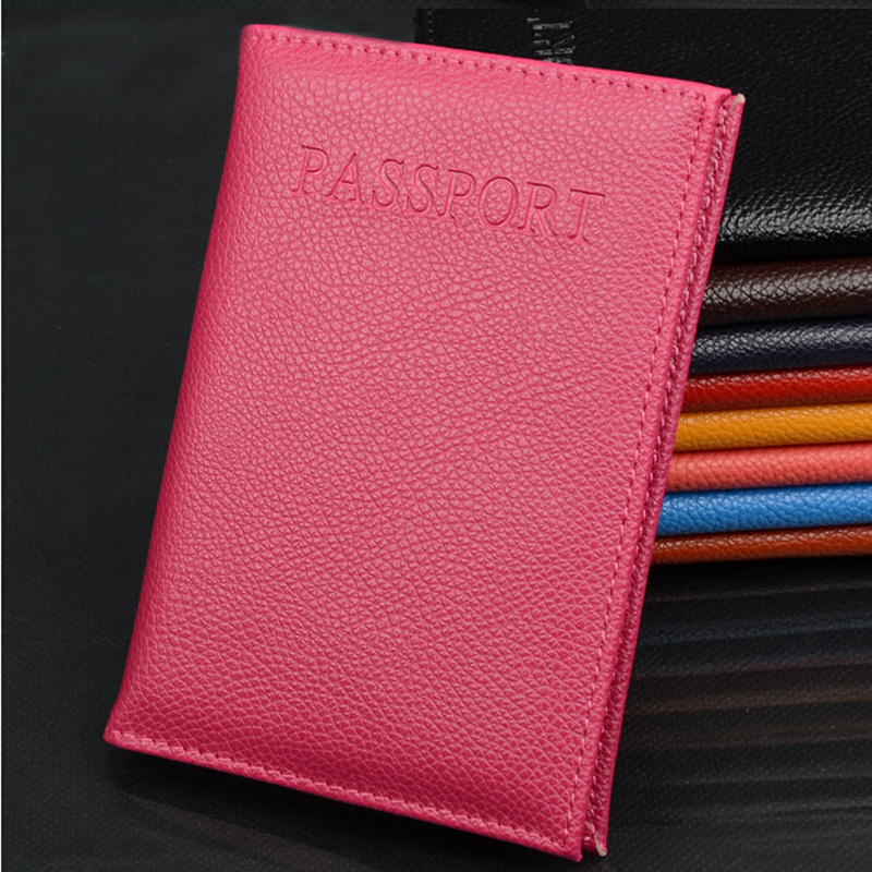 New PU Leather Women Passport Holder Couple Models Women s Travel Passport Cover Unisex Card Case