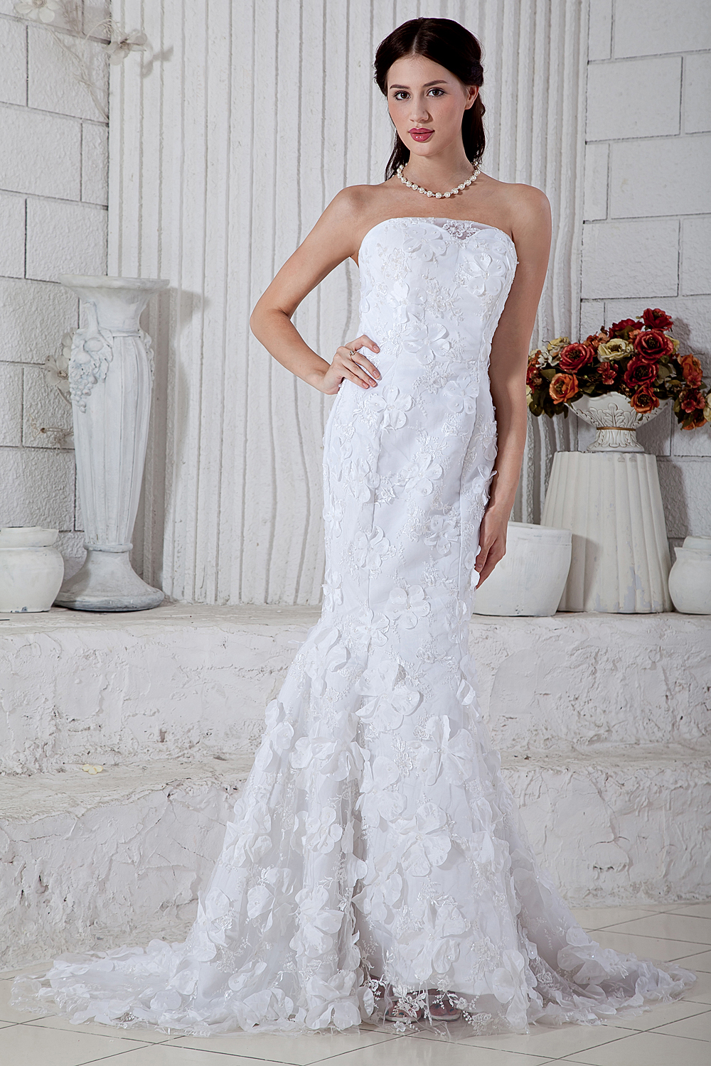 Buy 2015 graceful sexy mermaid strapless for Plus size off the shoulder wedding dress