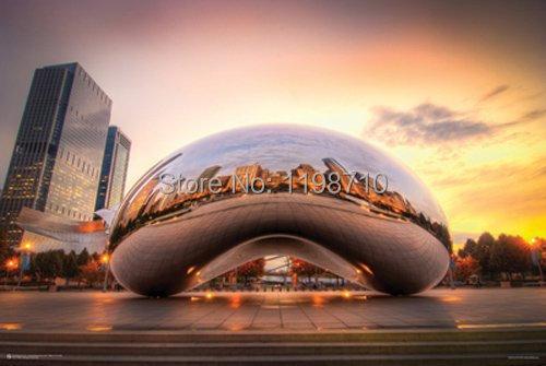 Chicago Cloud Gate Art Poster Print 20x30'(China (Mainland))