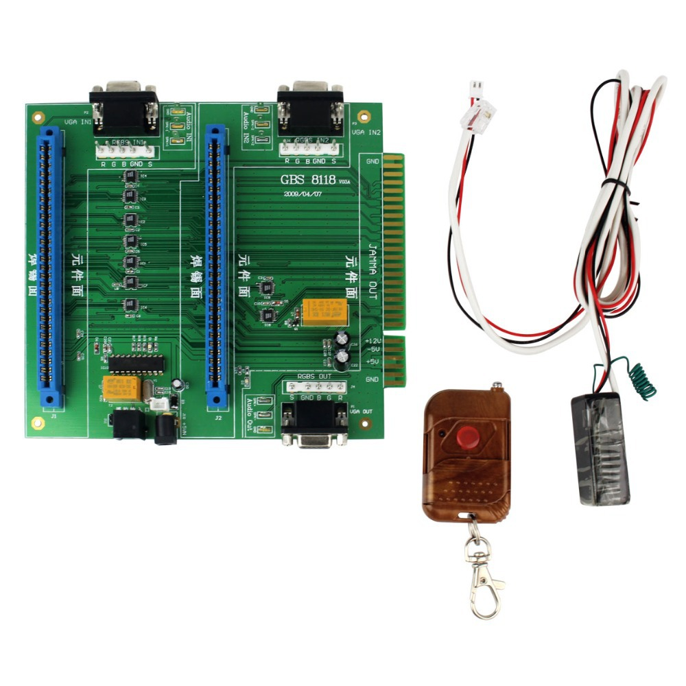 Newest GBS-8118 Arcade Game PC Board 2 in 1 Switch Control Multi JAMMA Switcher D5271A Eshow(China (Mainland))