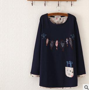 2016 Fall Женщины Hoodies Sweatрубашка Длинный Рукав О-образным вырезом Embroidery ...