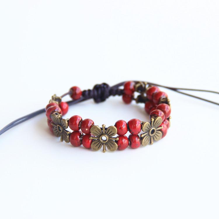 Buy Ceramic Beads Bracelets Vintage Style