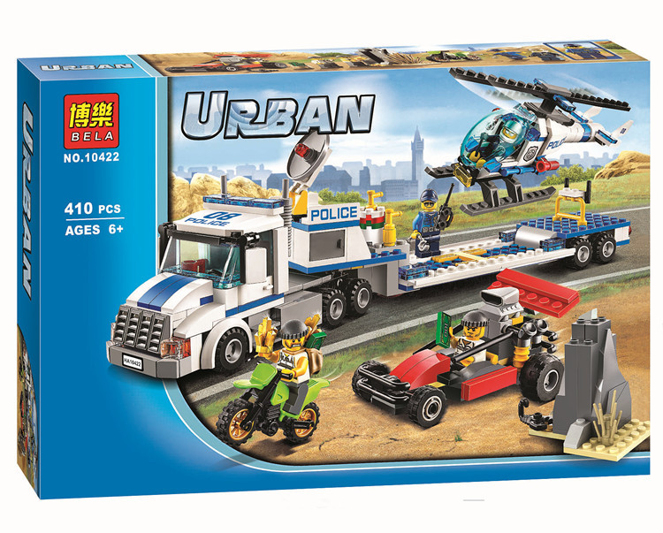 410pcs City Police Force Helicopter Truck Minifigures Building Block Minifigure Toys Compatible with Legoed City(China (Mainland))