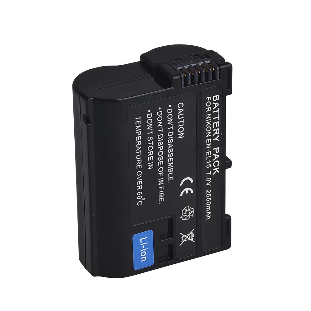 2550mah EN-EL15 Battery digital batteries EN EL15 ENEL15 Camera Battery pack For Nikon D600 D800 D800E D7000 D7100 V1 MH-25<br><br>Aliexpress