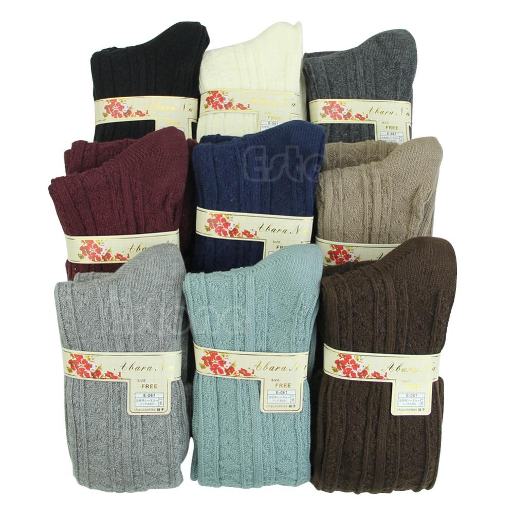 Women Winter Warm High Knee Leg Warmers Knit Crochet Leggings Boot Slouch-J117(China (Mainland))