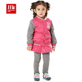 kids baby girls clothing set patchwork jacket skortpants baby girls suit winter children girls clothes 2015
