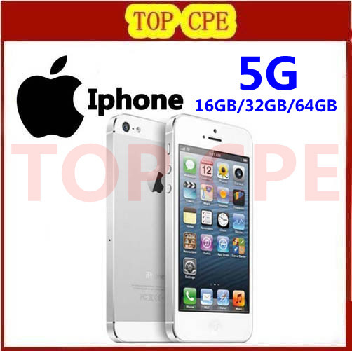 Iphone 5 100% Factory Unlocked original Apple Iphone 5 Cell phone 16GB/32GB/64GB IOS 4.0 inch in Sealed box Free Ship(China (Mainland))