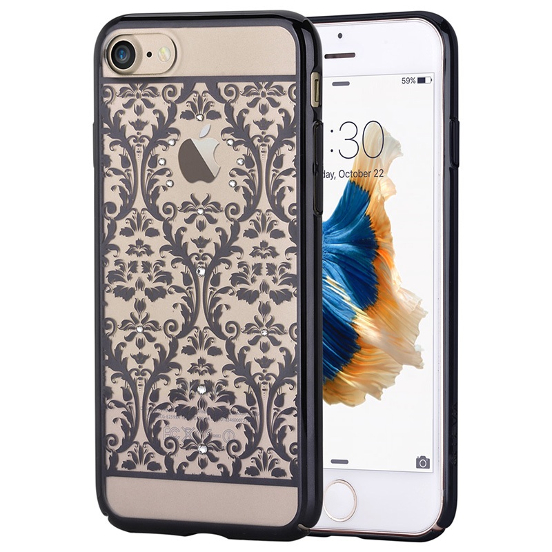 For iPhone 7 4.7 inch Hard Cases DEVIA Authorized Swarovski Crystal Baroque Plating PC Case for iPhone 7 4.7(China (Mainland))
