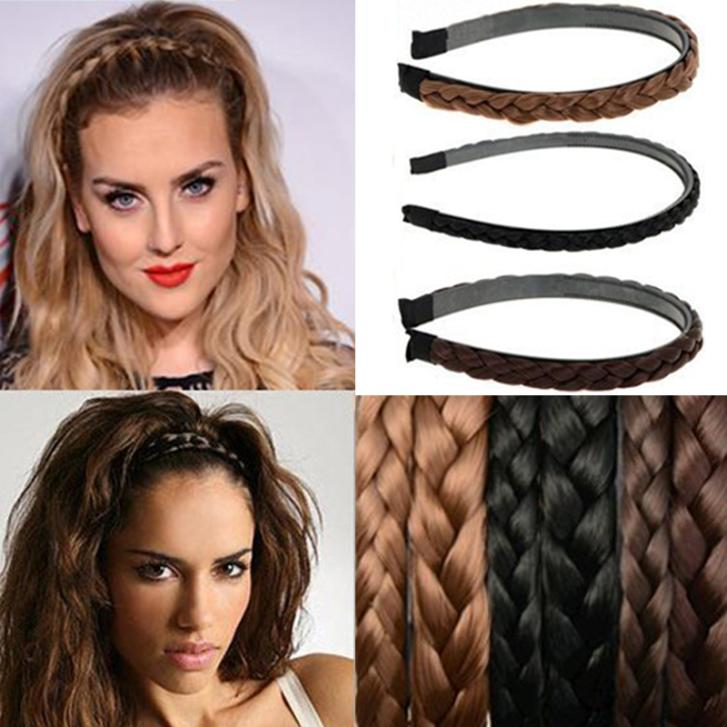 1PC Vintage Twisted Wig Headband For Women Wedding Hair Bands Hairband Plaited Braided Hair Accessories(China (Mainland))