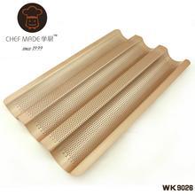 Бесплатная доставка высокое качество золотой выпечки инструменты-металл антипригарным багет лоток французский голова хлеб кастрюли для выпечки