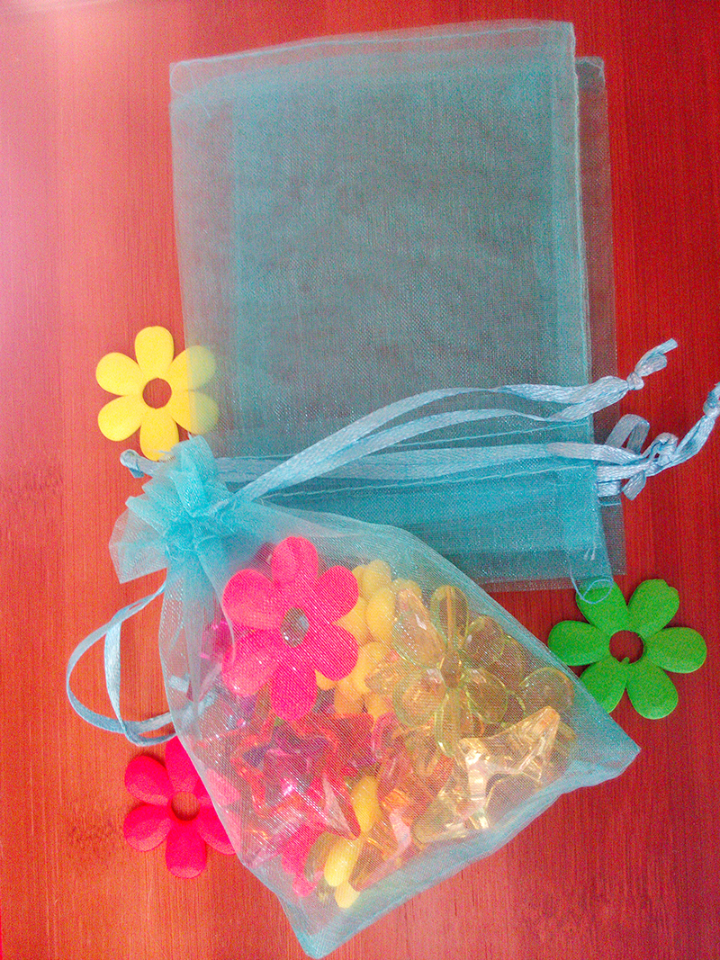 200pcs 10*15cm Lake Blue Organza gift bag jewelry packaging display bags Drawstring pouch for bracelet/necklace mini Yarn bag(China (Mainland))