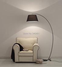 2pcs Upscale Fabric Fishing Floor lights RETRO bedroom lamp Creative Household fabric fishing floor lamp White/Black Floor lamps(China (Mainland))