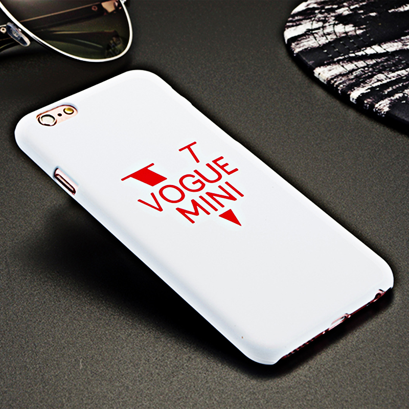Vogue Mini Letters Matte Frosted Case Back Cover For Apple