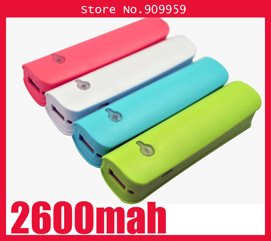 2600mAh External Backup Battery USB Charger Portable Power Bank For iPhone 5 5S 4 4s 3GS For Samsung S5 S4 S3 S2 Note 3 2(China (Mainland))