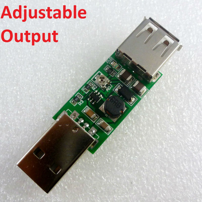 DC-DC USB 5V 6-15V Step-Up Boost Converter Voltage inverters Module Adjustable Output DC 6V 7V 8V 9V 12V - eletechsup store