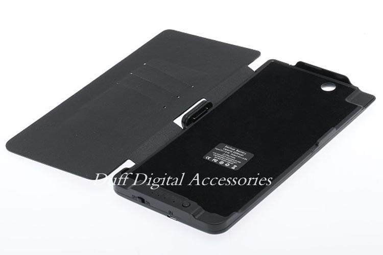 For Sony Xperia Z Ultra XL39H High Quality 5000mAh External Backup Battery Charger Case Slim PU Flip Holster  Phone Cases Cover