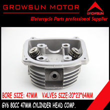 80cc 47mm GY6 Moped Scooter moped ATV Quad engine Cylinder Head comp with 20*23*64mm Valves SUNL,RoketaBaotian,Taotao,ATV Motors