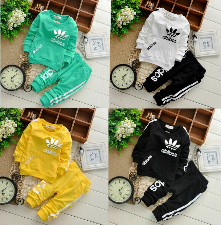 Free shipping! 2016 new winter children cotton long-sleeved track suit two.clothing set Children set baby set(China (Mainland))