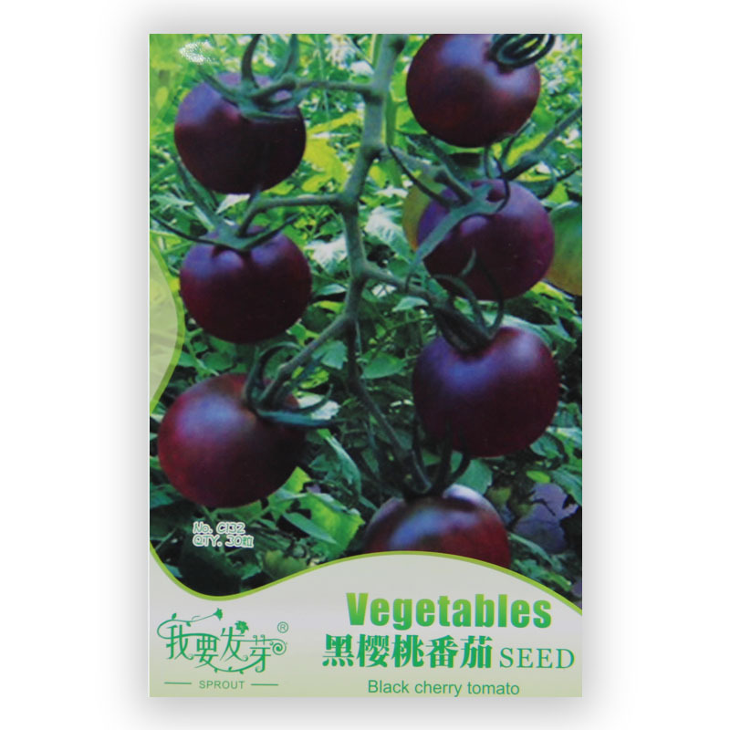 A Package 30 pieces seeds Rare Seeds Black Cherry Tomato Vegetable Fruit Seed(China (Mainland))