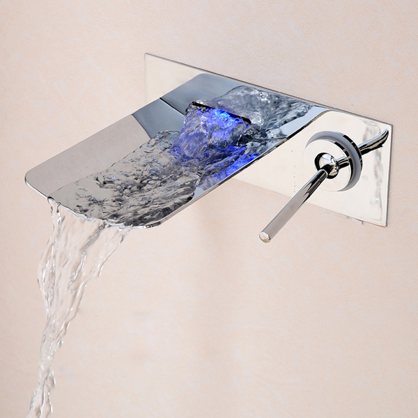 NEW LED bathroom faucet brass chrome basin tap like outlet waterfall LH-8083 - becola Official Store store