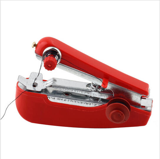 Hot Selling Useful Portable needlework Cordless Mini Hand-Held Clothes Fabrics Sewing Machine(China (Mainland))