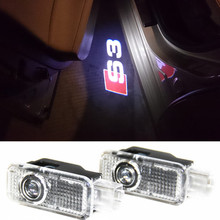 LED Car Door Welcome Light Laser Car Door Shadow led Projector Logo For AUDI S3 S4 S5 S6 S7 S8 RS RS3 RS4 RS5 RS6 SLINE(China (Mainland))