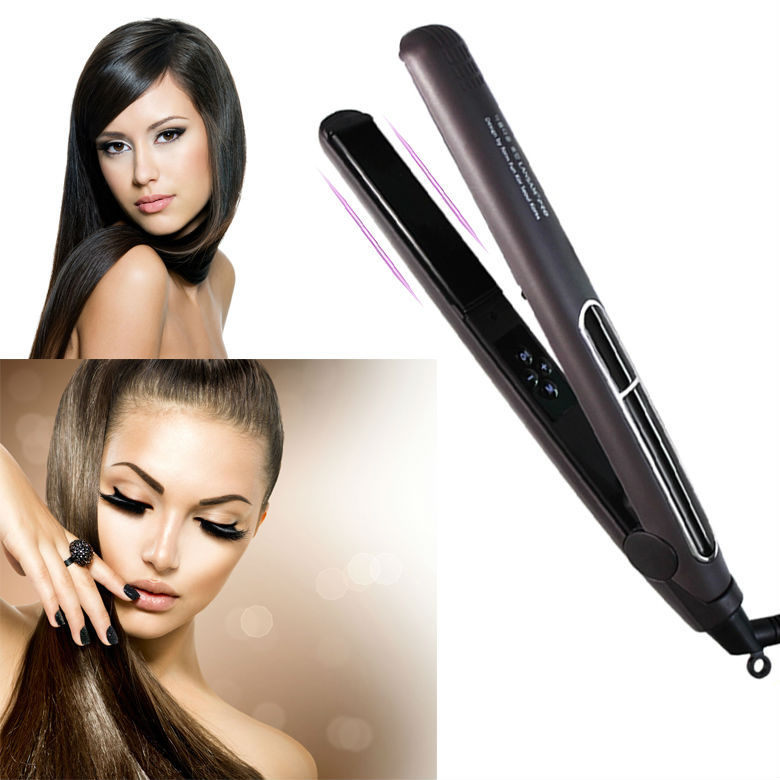 2015 Nano titanium heating rod hair straightener hot sale straightening lrons with high-qualily LED defintion display straighter<br><br>Aliexpress