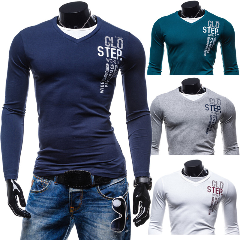 T shirt men 2015 men 39 s long sleeve shirt slim fit t shirt for Long sleeve fitted tee shirt