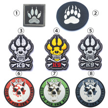 Buy MilSpec K9 DOG Paw patch Tactical USA Army Morale Patch Embroidered/PVC detection police DHS Homeland SecurityPatches for $1.35 in AliExpress store