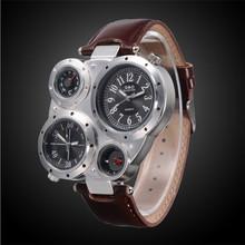 2016 мужские часы лучший бренд роскошные большой набор водонепроницаемый время температура компас дисплей спорт кварцевые часы мужчин masculino