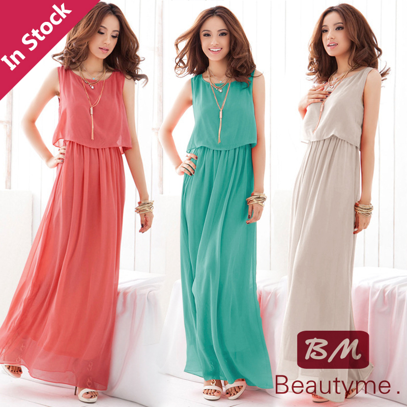 Casual Dress TOP Sale A-line women dress Free Shipping 2014 Women's Large Size Long Bohemian Top quality chiffon dresses C11088(China (Mainland))