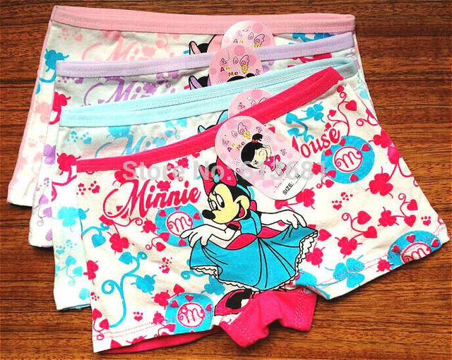 2015 New baby girls panties cotton children panties girls briefs underwear lovely cartoon panties children clothing 2-8 years<br><br>Aliexpress