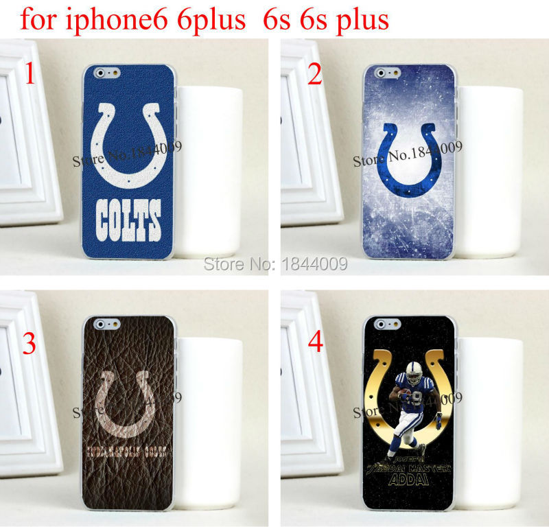 NFL Indianapolis Colts Style Hard Skin Transparent Cover Case for iphone6 6s and iphone6 plus 6s plus(China (Mainland))