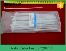 Hot Sale Self Locking Nylon Cable Tie MKCT 3 6 200 Factory Direct 100Pcs Bag