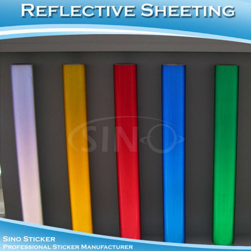 1.22X41M Sign Material PET Type Colored Reflective Sheeting Vinyl Sticker(China (Mainland))