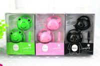 Best Quality Cartoon Bear Panda Earphone Bass Headphone For iPhone  Samsung HTC Xiaomi Earhook earphones with Mic Gifts for kids
