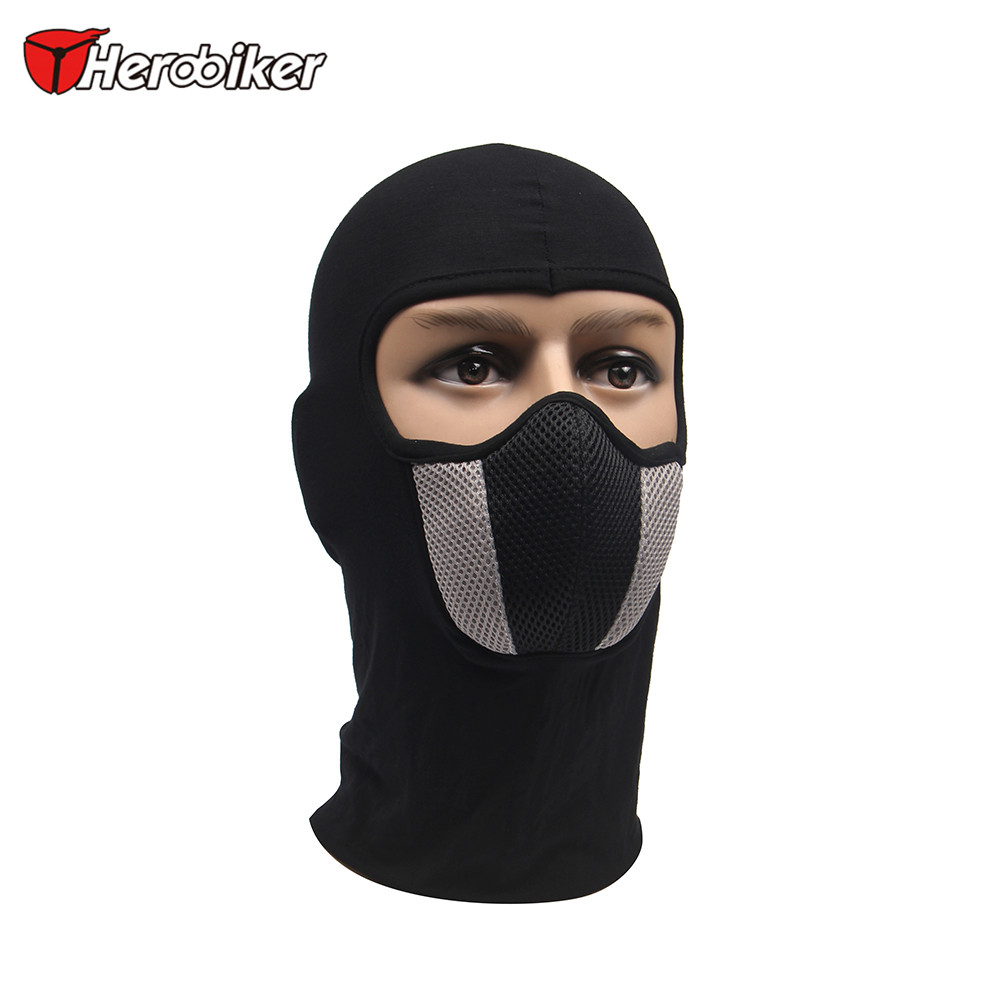 HEROBIKER Men's Motorcycle Face Mask Outdoor Motorcycle Helmet Hood Ski Sport Neck Face Mask Windproof Dustproof Red And Gray(China (Mainland))