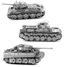Hot Sale Military Tank DIY 3D Metal Puzzle Toys New Fashion Educational Jigsaw Puzzle For Adult/Children(China (Mainland))