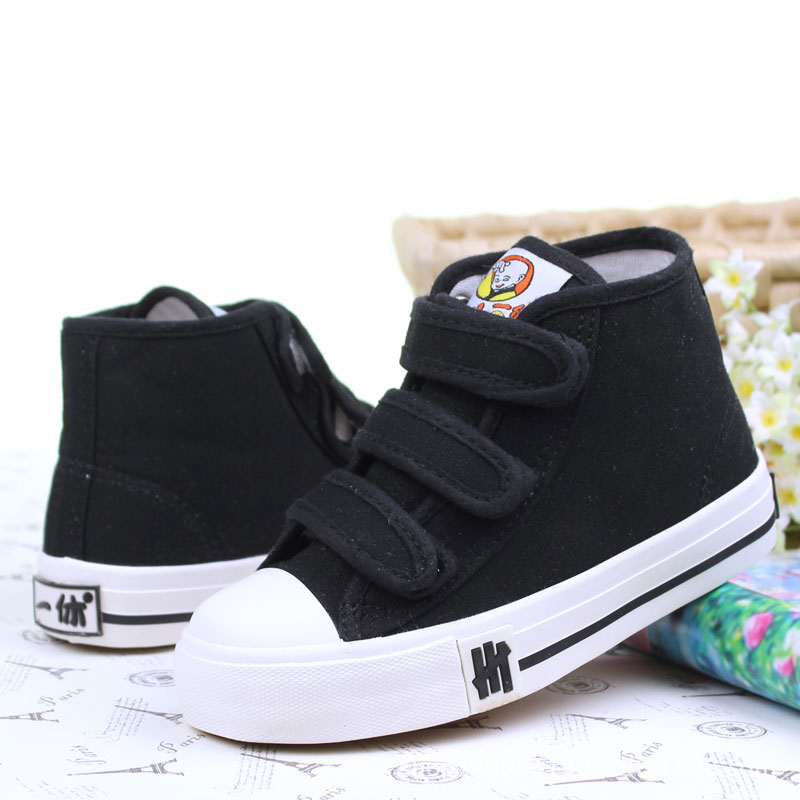 New Children Canvas Shoes pure colour Boys Girls Flat Boots Sport Breathable Kids Shoes Student Casual girls shoes free shipping
