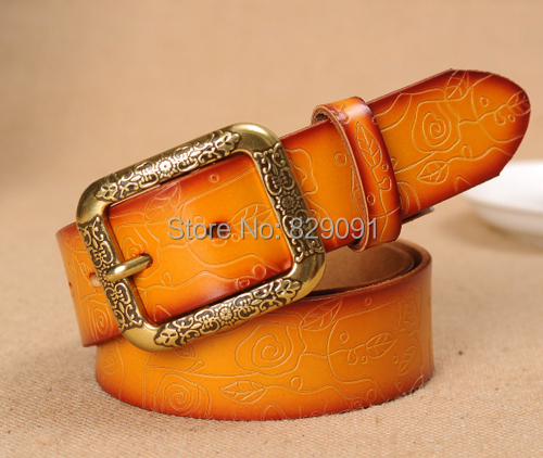 classic fashion men's belt male strap genuine leather alloy buckle gifts ABNN0098 - Jerry Luo's Factory sale store