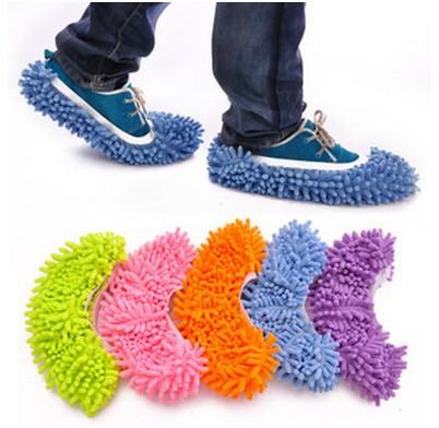 Dust Mop Slipper House Cleaner Lazy Floor Dusting Cleaning Foot Shoe Cover Dust Mop Slipper(China (Mainland))