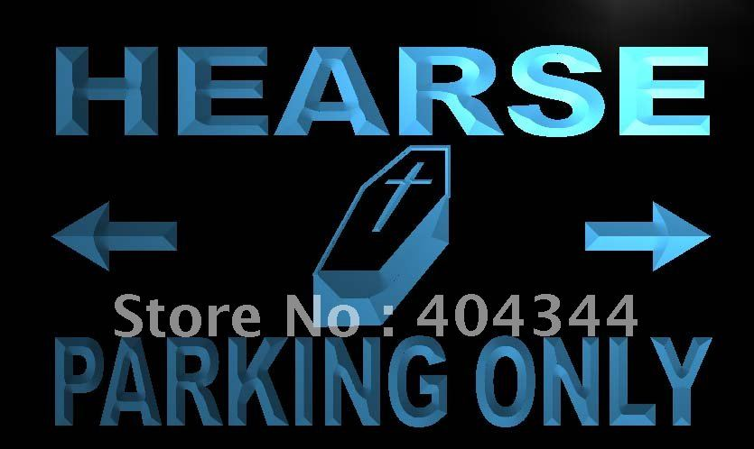 LN360- Hearse Parking Only LED Neon Light Sign hang sign home decor shop crafts(China (Mainland))