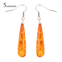 2016 New Design Fashion Amber Earrings For Women Vintage Luxury Drop Earrings African Jewelry(China (Mainland))