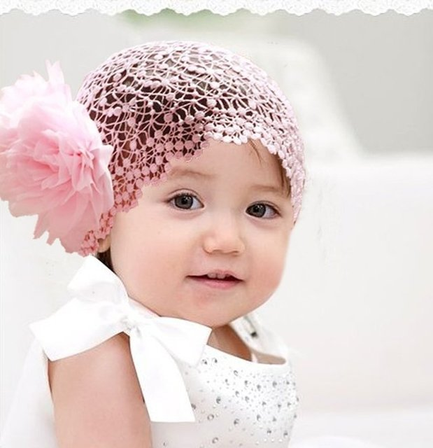 free shipping baby toddler girls pink red lace headbands hairband big flowers boutique accessories headwear