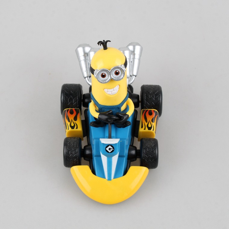 2015 New Hot Despicable Me Minions Karting Cars Action Figure Toys Christmas Gift For Kids(China (Mainland))