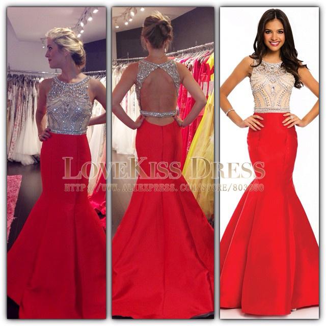 Crystal Mermaid Prom Dress