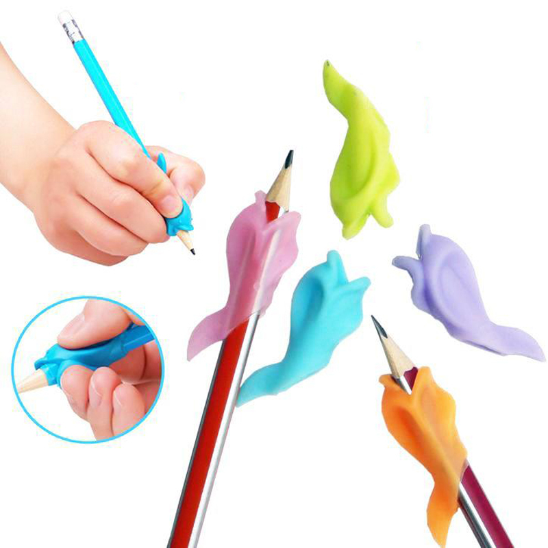 5pcs Best gift Dolphin fish Wobi child children pencil students hold a pen writing posture correction with Wobi posture toys(China (Mainland))