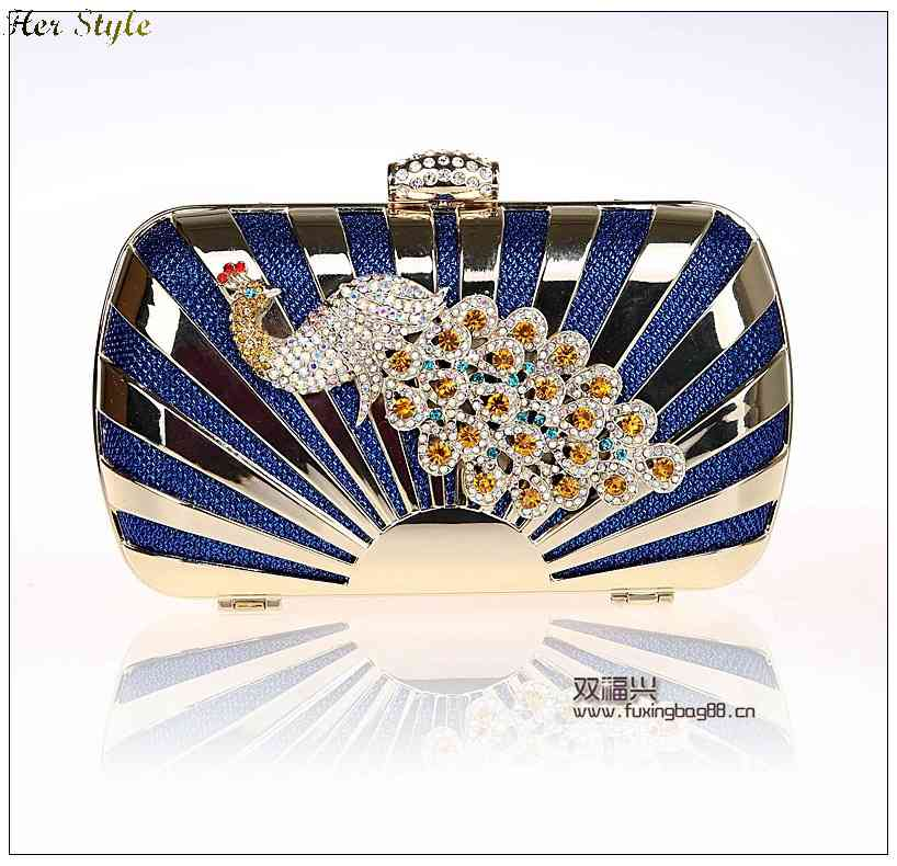 Free Shipping new Peacock rhinestones evening bag clutch bags banquet room 8022 1432656923(China (Mainland))