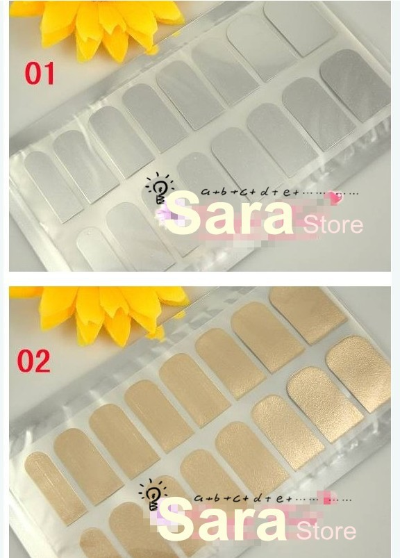 Free Shipping Minx Gold and Silver Nail Foil Wrap Sticker Shiny Nail Patch Art(China (Mainland))